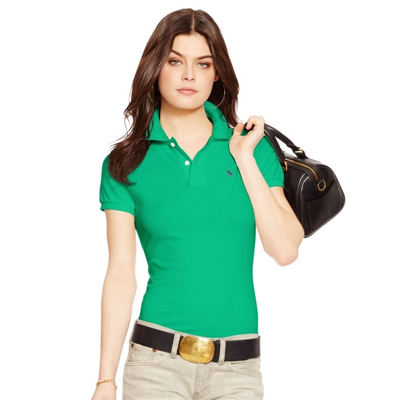 Skinny Ralph Kelly Fit Green Polo Lauren f6mvY7Iygb